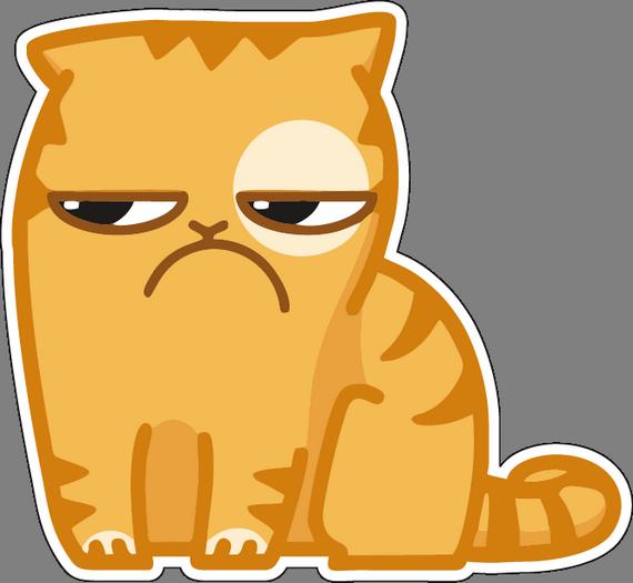 Картинки стикеров кот персик