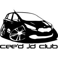Наклейка Ceed Jd club, фото 1