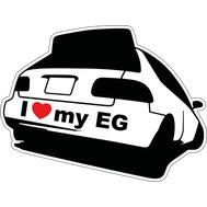 Наклейка I love my EG, фото 1