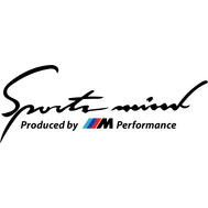 Наклейка Sports mind BMW, фото 1