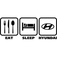 Наклейка Eat sleep Hyundai, фото 1