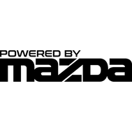 Наклейка Powered by Mazda, фото 1