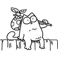 Наклейка Кот Саймона, фото 1