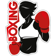 Наклейка Boxing woman, фото 1