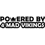 Наклейка Powered by 4 mad vikings, фото 1