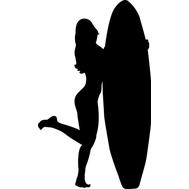 Наклейка Серфингистка, фото 1