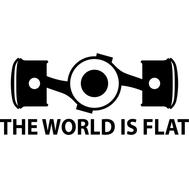 Наклейка The world is flat, фото 1