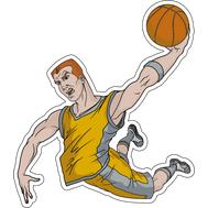 Наклейка Баскетболист, фото 1