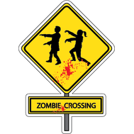 Наклейка Zombie crossing, фото 1