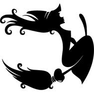 Наклейка Ведьмочка, фото 1