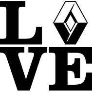 Наклейка Love Renault, фото 1