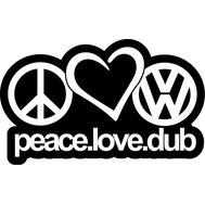 Наклейка Peace.Love.Dub, фото 1