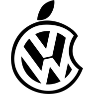 Наклейка VW apple, фото 1