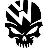 Наклейка VW skull, фото 1