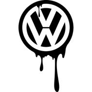 Наклейка VW zombie, фото 1