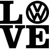 Наклейка Love Volkswagen, фото 1