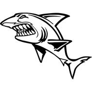 Наклейка Акула, фото 1