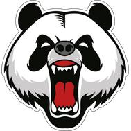 Наклейка Angry panda, фото 1