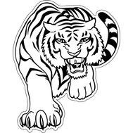 Наклейка Тигр, фото 1