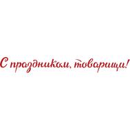 Наклейка С праздником товарищи!, фото 1