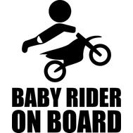 Наклейка Baby rider on board, фото 1