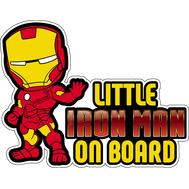 Наклейка Little Iron Man on board, фото 1