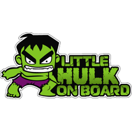 Наклейка Little Hulk on board, фото 1