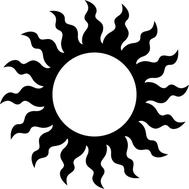 Наклейка Солнце, фото 1