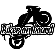 Наклейка Biker on board, фото 1