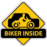 Наклейка Biker inside, фото 1