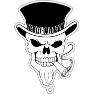 Наклейка Череп Harley Davidson, фото 1