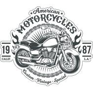 Наклейка American motorcycles, фото 1
