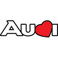 Наклейка Love Audi цветная, фото 1