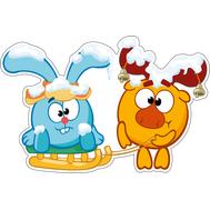 Наклейка Крош и Лосяш, фото 1