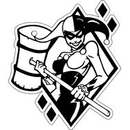 Наклейка Harley Quinn, фото 1