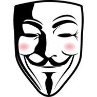 Наклейка Anonumous, фото 1