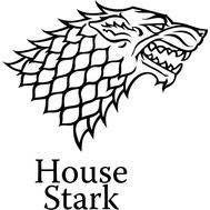 Наклейка House Stark, фото 1