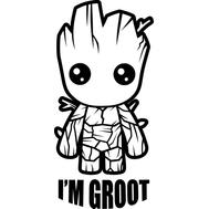 Наклейка  I'm Grot, фото 1