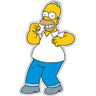 Наклейка Довольный Гомер Симпсон, фото 1