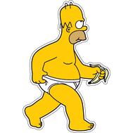 Наклейка Гомер Симпсон с бананом, фото 1