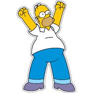 Наклейка Радостный Гомер Симпсон, фото 1