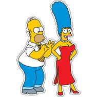 Наклейка Гомер и Мардж, фото 1