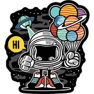 Наклейка Spaceman, фото 1