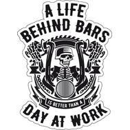 Наклейка A life behind bars, фото 1