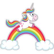 Наклейка Единорожка на радуге, фото 1