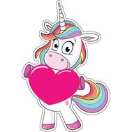 Наклейка Единорожка с серцем, фото 1