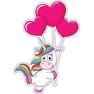 Наклейка Единорожка с шариками, фото 1