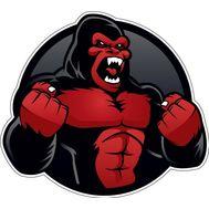 Наклейка Angry gorilla, фото 1