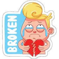 Наклейка Broken heart, фото 1