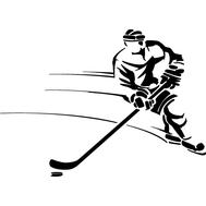 Наклейка Хоккеист, фото 1